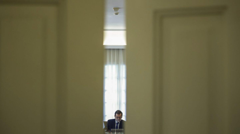 Referéndum 1-O: Rajoy, en el Palacio de la Moncloa.