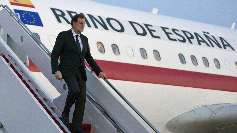 Mariano Rajoy, a su llegada a los Estados Unidos.