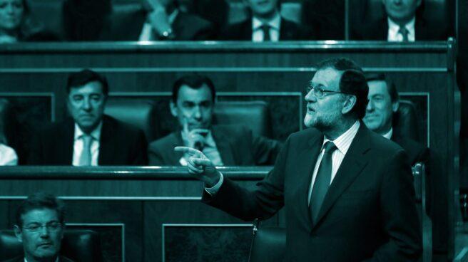 El presidente del Gobierno, Mariano Rajoy, durante su intervención en la sesión de control al Ejecutivo.