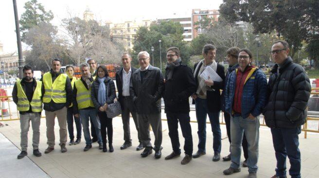 Joan Ribó y Giuseppe Grezzi visitan las obras el carril bici