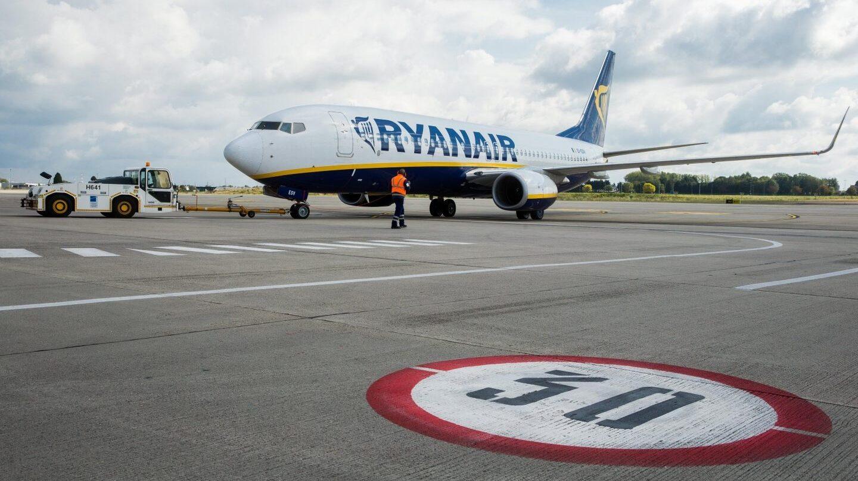 Un avión de la aerolínea Ryanair.