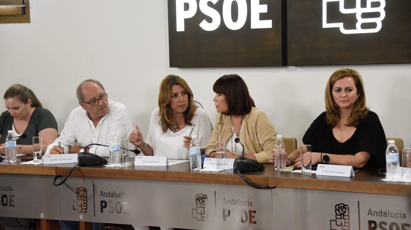 Susana Díaz, en un momento de la reunión.