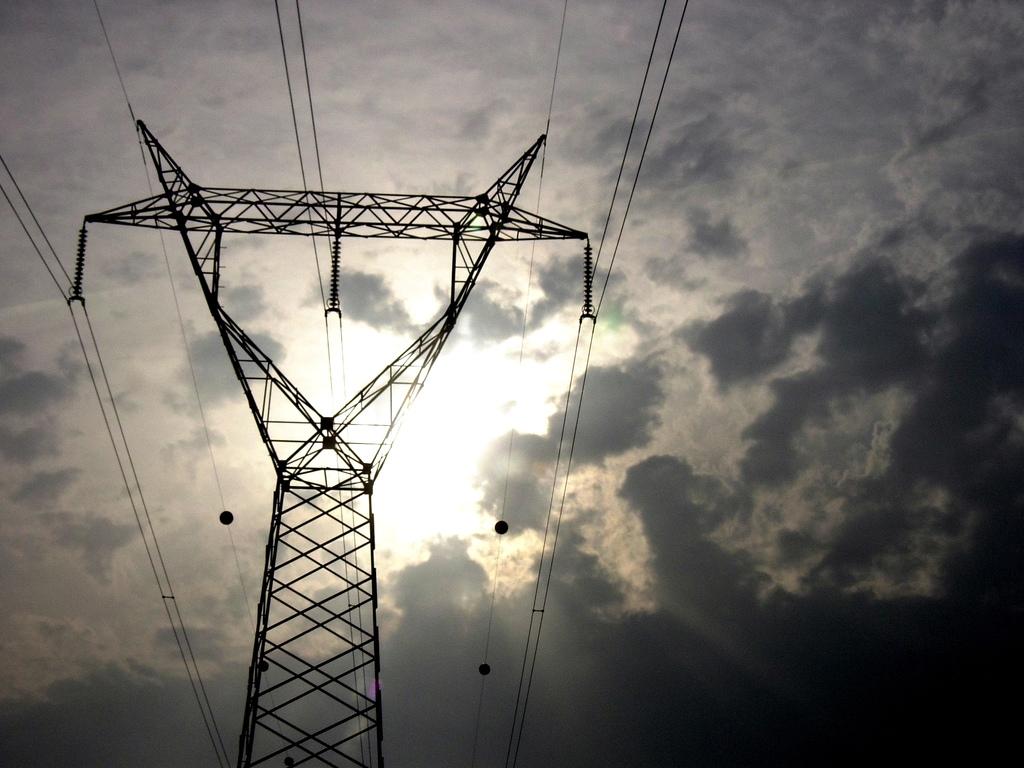 Torre de la red de alta tensión.