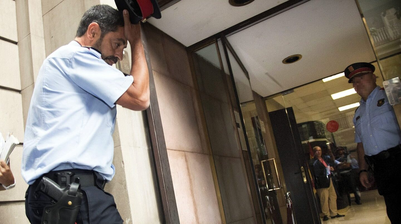 El mayor de los Mossos d'Esquadra, Josep Lluís Trapero, en una reciente visita a la Fiscalía Superior de Cataluña.