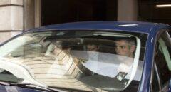 El Mayor de los Mossos d'Esquadra, Josep Lluís Trapero, a su salida de la reunión convocada por la Fiscalía.