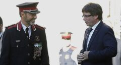 Josep Lluís Trapero y Carles Puigdemont.
