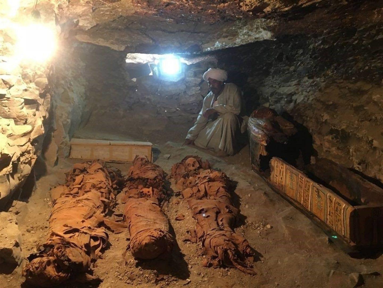 Imagen facilitada por el Ministerio de Antigüedades de Egipto.