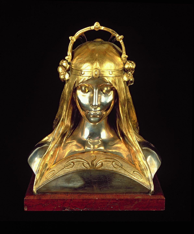 Cabeza de chica, 1900, escultura para la exposición universal de 1900 .
