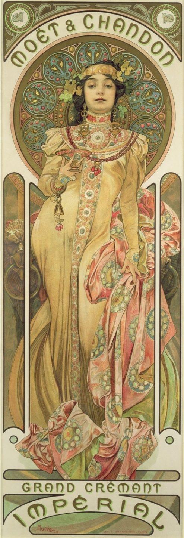 Moet & Chandon, Dry Imperial, 1899, litografía a color.