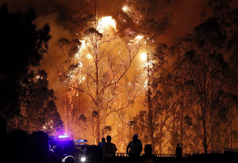Uno de los incendios de la provincia gallega de Pontevedra.
