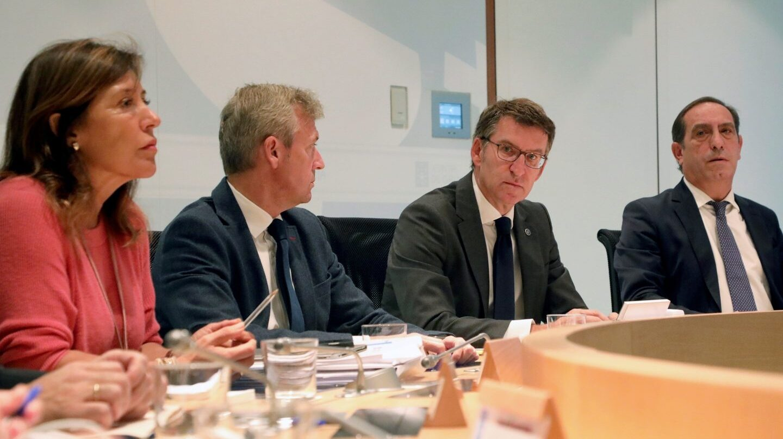 Incendio de Galicia: Feijóo preside la reunión extraordinaria del Consello de la Xunta.