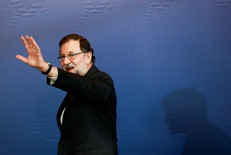 El presidente Mariano Rajoy, este viernes en el Consejo Europeo, en Bruselas.