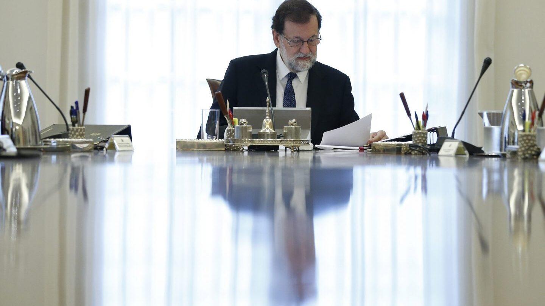 El presidente del Gobierno, Mariano Rajoy, durante la reunión del Consejo de Ministros.