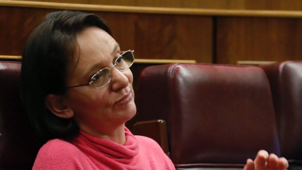 Carolina Bescansa, esta semana en el Congreso de los Diputados.