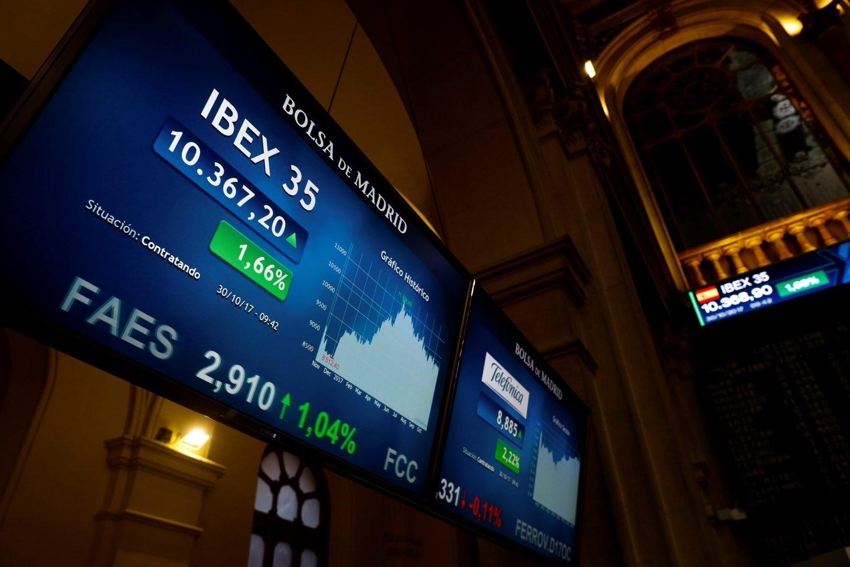 El Ibex sube con fuerza tras la aplicación del artículo 155 en Cataluña.