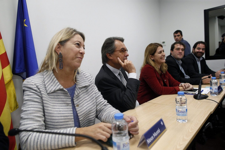 Neus Munté, Artur Mas y Marta Pascal, en el Comité Nacional del PDeCAT.