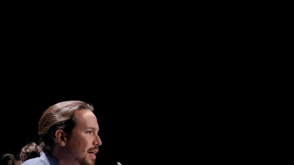 Pablo Iglesias este lunes en el Círculo de Bellas Artes.
