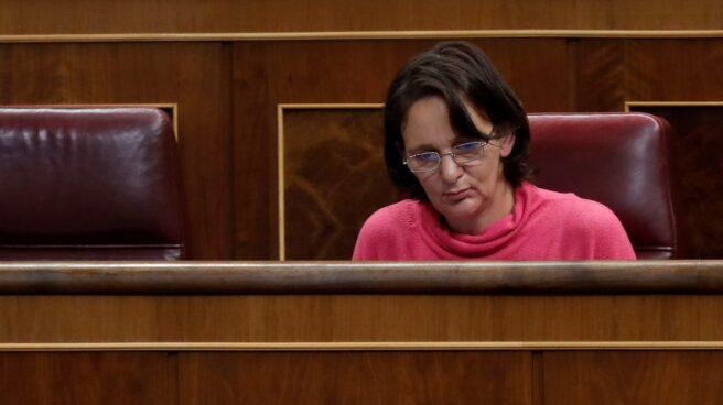 La diputada Carolina Bescansa, en su escaño.