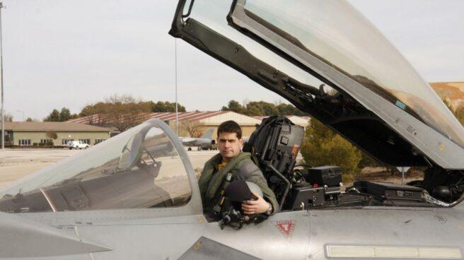 Fotografía facilitada por el Ministerio de Defensa del capitán del Ejército del Aire Borja Aybar