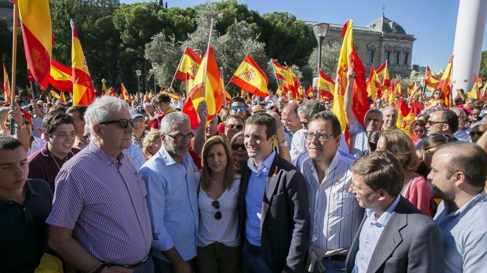 Pablo Casado, en la manifestación de Colón (Madrid).