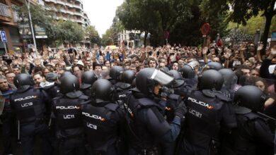 "Un antidisturbios del 1-O: ""Aquello no era rumba catalana, eran cánticos de odio"""