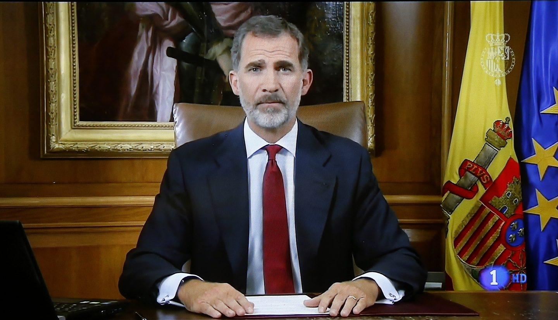 Referéndum Cataluña 1-O: El discurso del Rey.