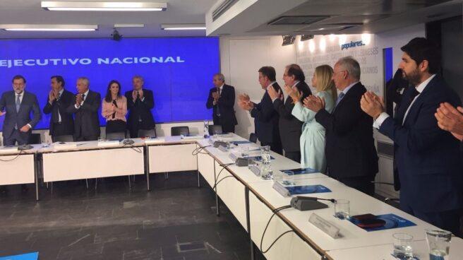 Rajoy, aplaudido en la Ejecutiva del PP.