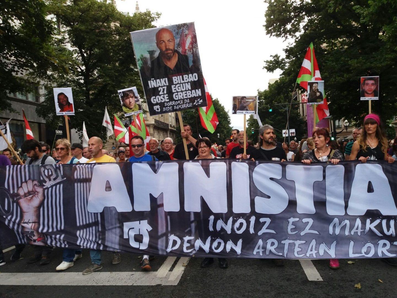 Manifestación convocada por ATA en apoyo al preso de ETA Iñaki Bilbao.