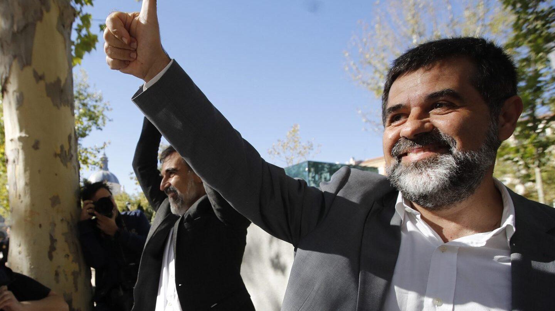 Jordi Sànchez y Jordi Cuixart, ex líderes de la ANC y de Òmnium, días antes de ingresar en prisión.