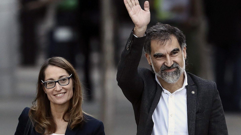 El presidente de Òmnium Cultural, Jordi Cuixart, llega a la Audiencia Nacional.