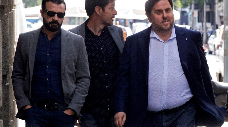 Oriol Junqueras llega a la reunión de ERC.