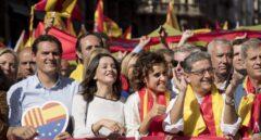 Manifestación 8-O: Rivera, Arrimadas, Montserrat y MIlló.
