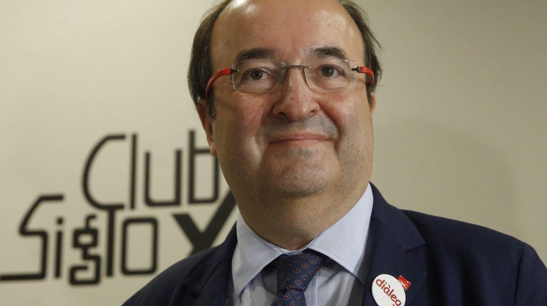 El líder del PSC, Miquel Iceta, en el Club Siglo XXI.