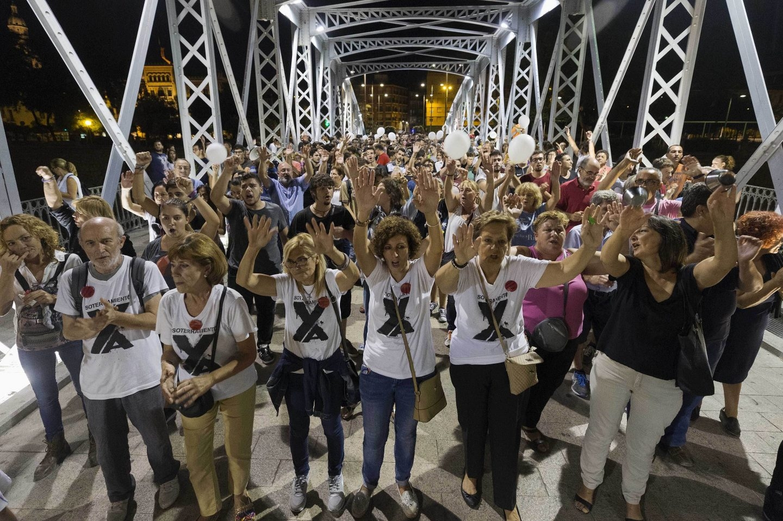 Protesta por el soterramiento de las vías en Murcia.