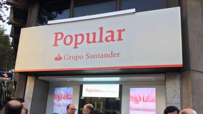 Nuevas oficinas del Banco Popular, tras la integración en Santander.