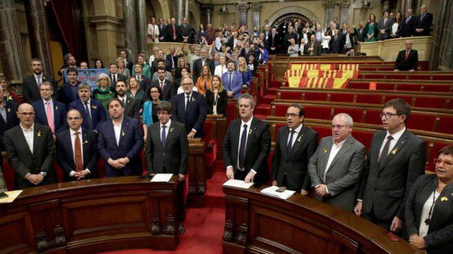 Votación de la independencia en el Parlament.