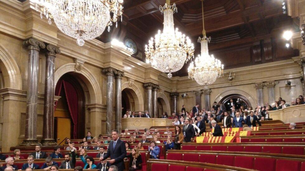 Votación de independencia en el Parlament.