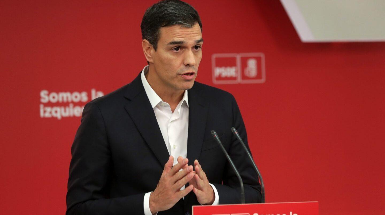 Referéndum 1-O: comparecencia de Pedro Sánchez.