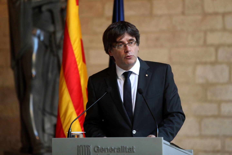 Puigdemont, en su declaración en la Generalitat.