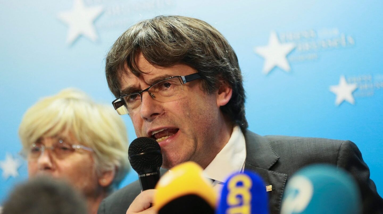 Puigdemont, en su comparecencia en Bruselas.