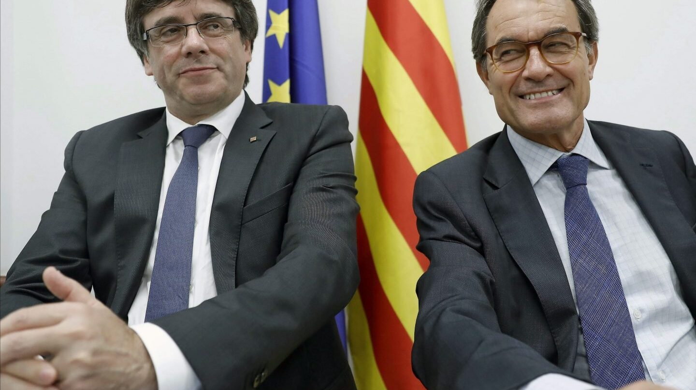 Puigdemont y Mas, en el Comité Nacional del PdeCat.