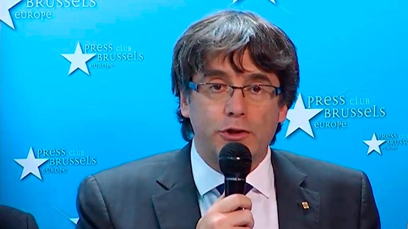 Carles Puigdemont, en Bruselas.
