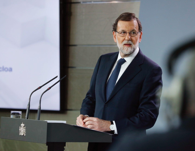 Mariano Rajoy, en su declaración en Moncloa.