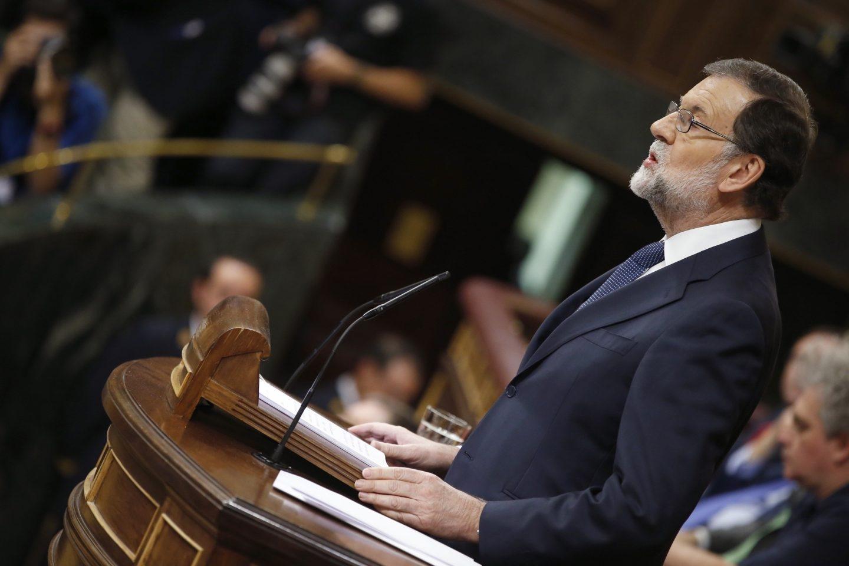 Mariano Rajoy explica al Congreso las medidas sobre Cataluña.