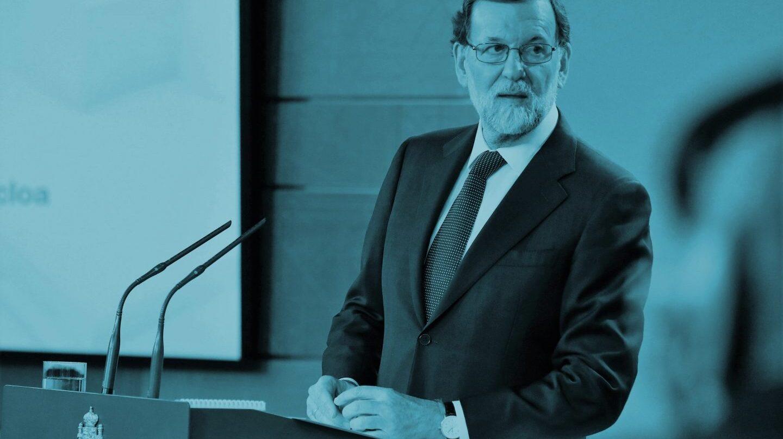 Mariano Rajoy, en su declaración en Moncloa, responde a la declaración de independencia anunciada por el Parlament de Cataluña.