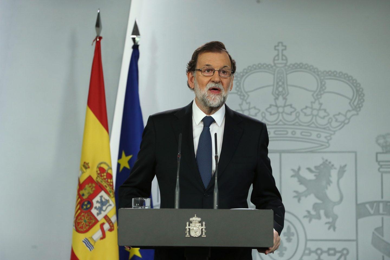 Referéndum 1-O: Mariano Rajoy comparece en la Moncloa.