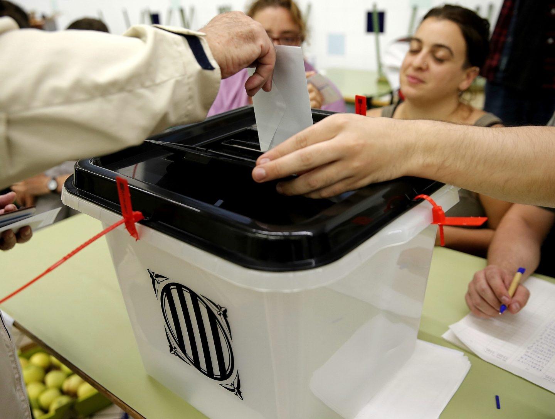 Referéndum 1-O: Votación en Barcelona.