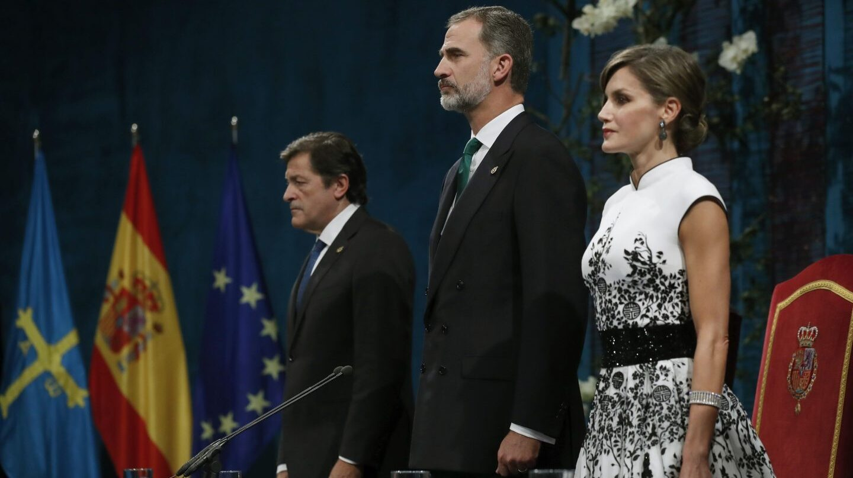 Los Reyes, en la entrega de los premios Princesa de Asturias.