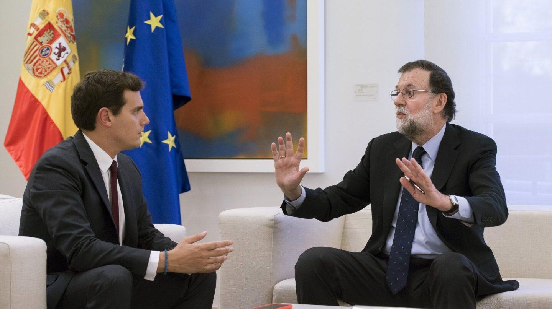Referéndum 1-O: Rivera y Rajoy, en Moncloa.