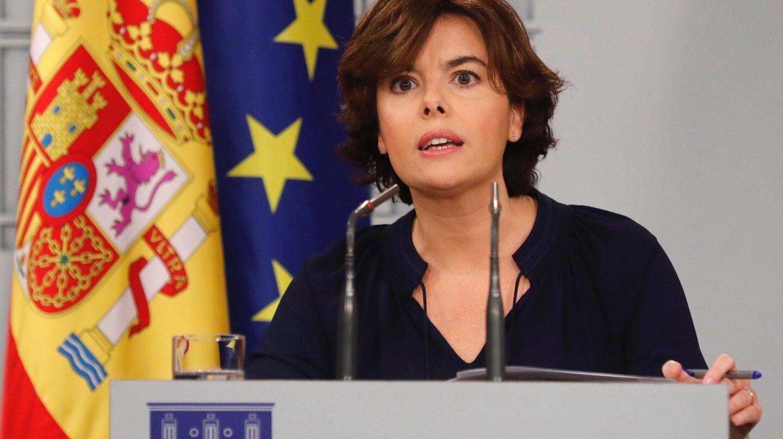 Referéndum 1-O: Sáenz de Santamaría, en Moncloa.